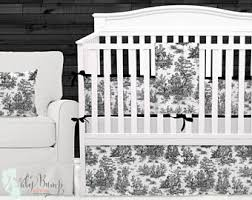 Black And White Toile Bedding Toile Bedding Etsy