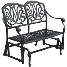 Patio Glider Bench Metal Patio Bench