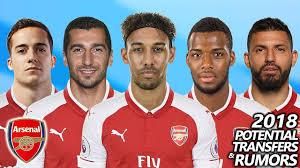arsenal rumors arsenal potential transfers rumours 2018 ft aubameyang