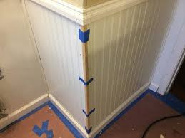 install bead board paneling and trim