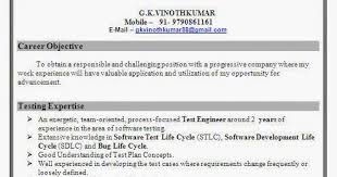 Software Test Engineer Sample Resume by Software Test Engineer Resume Format