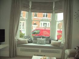 Curtains On Bay Window Cool Curtains For Bay Windows With Window Seat 38 For Elegant