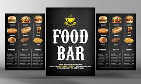 beautiful burger menu template psd