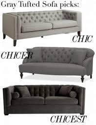 tufted gray sofa tufted gray sofa foter