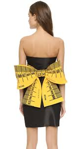moschino measuring tape dress black in black lyst