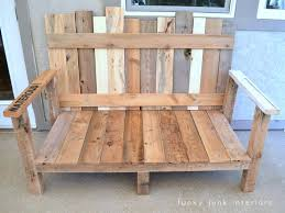 Patio Furniture Made Out Of Pallets by How I Built The Pallet Wood Sofa Part 2 Funky Junk Interiors