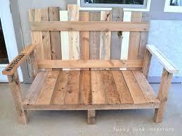 Pallet Wood Patio Furniture - pallet wood outdoor sofa reveal funky junk interiorsfunky junk