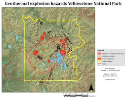 Yellowstone Park Map Methodology Volcanic Hazard Map Of Yellowstone National Park