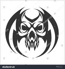skull tattoo tribal design isolated on stock vector 432993571