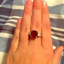 diamond red rings images Jewelry red diamond ring unsure if its real diamond poshmark jpg