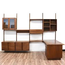 Modern Wall Unit by Mid Century Modern Wall Unit Desk Living Room Ideas