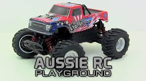 rc nitro monster truck unboxing mini nitro circus basher 1 16 scale brushless mt youtube