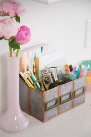 Fun Desk Organizers by How To Make A Faux Metal Desk Organizer Out Of Cardboard Hgtv