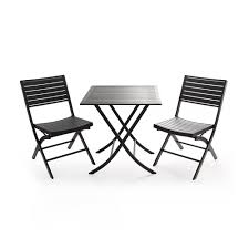 Outdoor Furniture Vancouver by Furniture Thomas Cast Aluminum 3 Piece Lowes Bistro Set In Dark