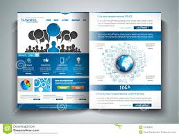 vector bi fold brochure template design or flyer layout to use for