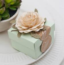 wedding candy favors light green wedding favors candy box with ivory flowers candy