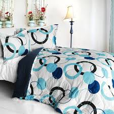 Girls Bedding Sets Twin by Blue Black White Geo Dot Teen Bedding Modern Comforter Or