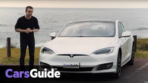 exotic cars lined up tesla model s p100d 2017 review carsguide