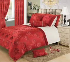 Beautiful Duvet Covers Red Colour Stylish Floral Jacquard Duvet Cover Luxury Beautiful