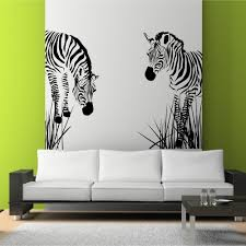 decoration ideas delightful zebra wall art stencil on lime green