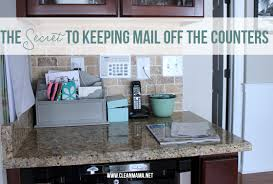 the secret to keeping mail off the counters clean mama