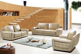 almond half top grain leather living room pc sofa set stockton