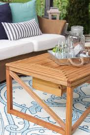 coffee table with cooler outdoor coffee table with beverage cooler buildsomething com