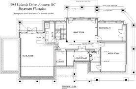 basement floor plan home design
