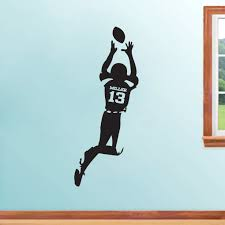 custom football player wall decals 15 00 kid bedroom ideas custom football player sports wall decals stickers