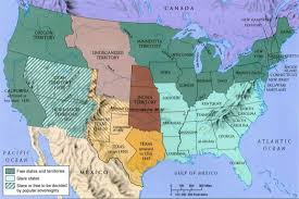 Manifest Destiny Map Compromise Of 1850 History Summary Slavery Compromise Map Us