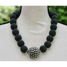 beaded balls necklace