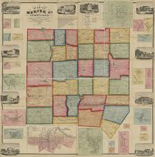 Pennsylvania County Map by Ancestor Tracks Mercer County