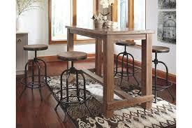 pinnadel dining room pub table ashley furniture homestore