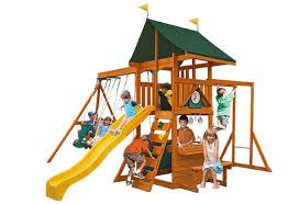 Wooden Backyard Playsets Wooden Swing Sets U0026 Playsets Backyard Imagination