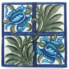a william de morgan sand u0027s end pottery tulip u0026 trellis tile lot