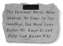 personalized memorial stones personalized memorial no farewell words