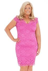 pretty in pink gemma collins has unveiled her fifth plus size
