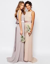 bridesmaid dresses asos image 3 of tfnc wedding sateen bow back maxi dress bridesmaid