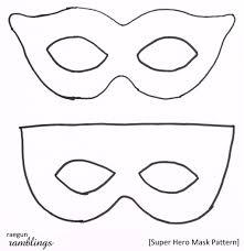 superhero eye mask template printable mask templates printable eye