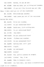 you need to read this the most court transcript in history
