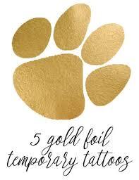 tiger paw temporary gold foil set of 5 left side of