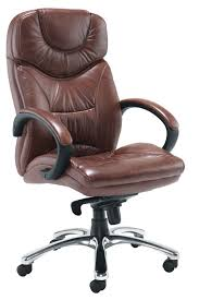 Small Leather Desk Chair Brown Leather Office Chair Good Furniture Net