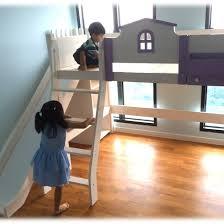 pjt little house loft bed with side slide customised beds