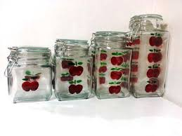 clear glass kitchen canister sets 755 best apple decor images on apple decorations