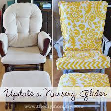 furniture wonderful swivel glider rocker and ottoman with brown