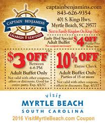 Old Country Buffet Coupons Discounts by Captain Benjamin U0027s Calabash Seafood 3 Off 4 6 P M Or 10 Off