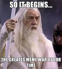 Meme So - a meme war so it begins know your meme