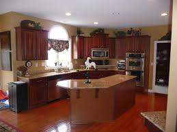 kitchen pictures cherry cabinets creating a stylish kitchen look using kitchen pain colors with