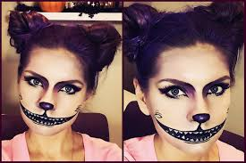 creepy cheshire cat halloween makeup tutorial youtube