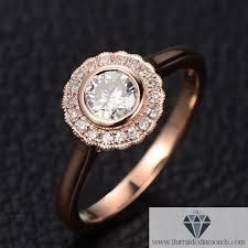 bezel ring bezel set moissanite diamond halo engagement ring